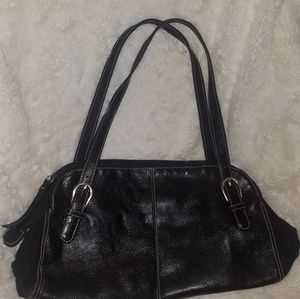Franco Sarto brand black leather purse.